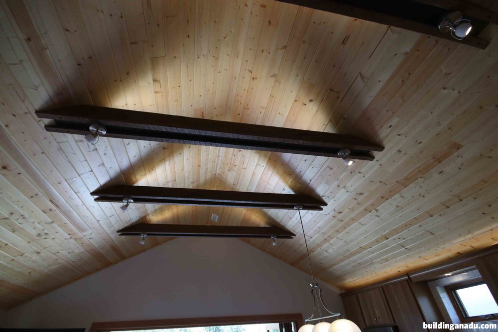 ADU ceiling crossbeams